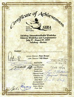 SIBA CERTIFICATE OF ACCOMPLISHMENT